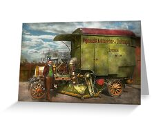 Steampunk - Street Cleaner - The hygiene machine 1910 Greeting Card