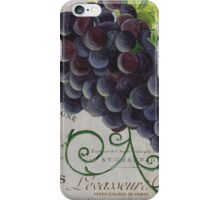 French Purple Grapes iPhone Case/Skin