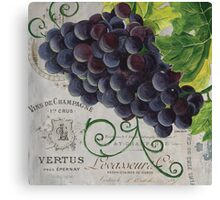French Purple Grapes Canvas Print
