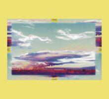 Vaporwave-Pastel Sky One Piece - Short Sleeve