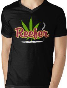 Reefer Marijuana Mens V-Neck T-Shirt