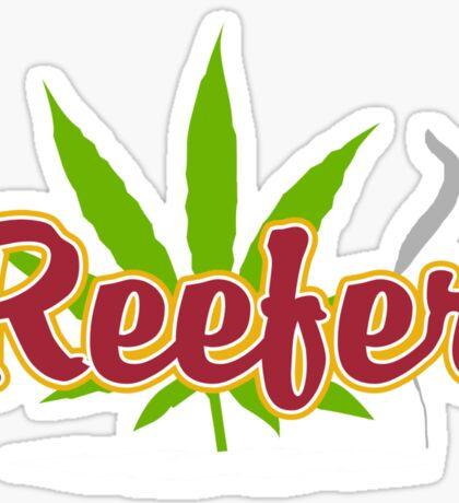 Reefer Marijuana Sticker
