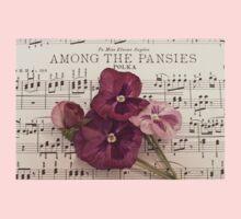 Among The Pansies  Kids Tee