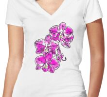 Orchid - 76 Women's Fitted V-Neck T-Shirt