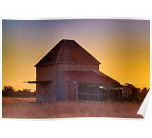 Chicory Kiln Sunset Poster