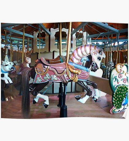 Carousel Armored horse Poster