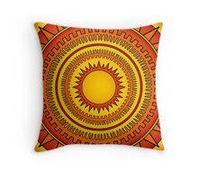 Blazing Sun Throw Pillow