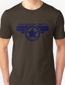 """On Your Left Running Club"" Hybrid Distressed Print 1 Unisex T-Shirt"