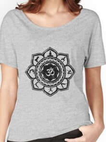 Vintage Om Yoga Lotus Flower Women's Relaxed Fit T-Shirt
