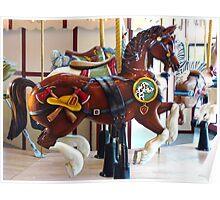 Carousel Fireman Pony Poster