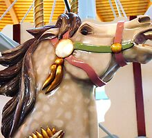 Closeup of the Painted Pony Carousel Horse by MischaC