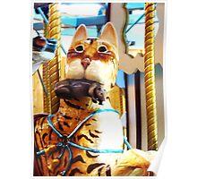 Carousel Cat w' Rat Poster