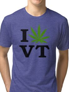 I Marijuana Vermont Tri-blend T-Shirt