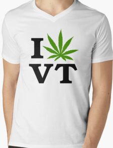 I Marijuana Vermont Mens V-Neck T-Shirt