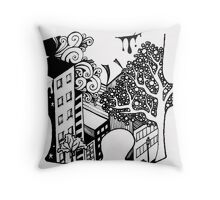 Exquisite Corpse Puzzle Piece Throw Pillow