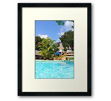 Travellers Club Resort in Mombasa, KENYA Framed Print