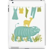 Humphrey the Hippo and the Cameroon Mountain Goat iPad Case/Skin