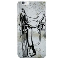 Cowgirl Cowboy Western Saddle iPhone Case/Skin