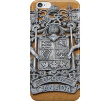 Metal Canada Coat of Arms iPhone Case/Skin