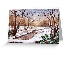 Snowy Stream Greeting Card