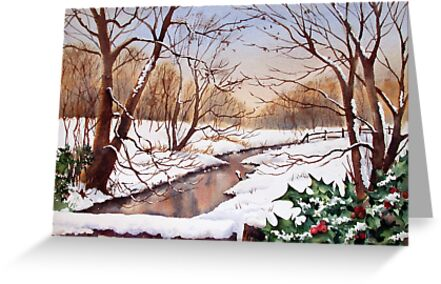 Snowy Stream by Ann Mortimer