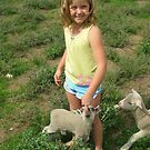 Abby and lambs by bobby1