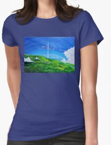 La tour au-delà des nuages (Beyond the Clouds) Womens T-Shirt