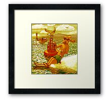 water skiing dog Framed Print