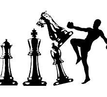 Kickboxing Chess Knee Black  by yin888