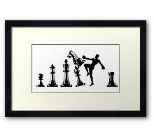 Kickboxing Chess Knee Black  Framed Print