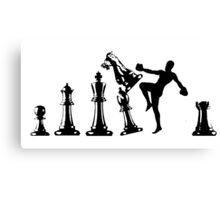 Kickboxing Chess Knee Black  Canvas Print