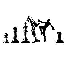 Kickboxing Chess Knee Black  Photographic Print