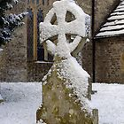 Snow covered Saxon Gravestone by chris-csfotobiz