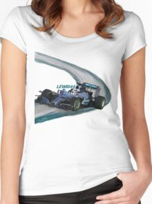 Mercedes W05 - Lewis44 Women's Fitted Scoop T-Shirt