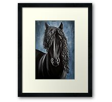 Friesian beauty Framed Print