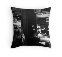 Look out! You're about to get into trouble!! Throw Pillow