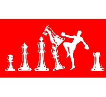 Kickboxing Chess Knee White  Photographic Print