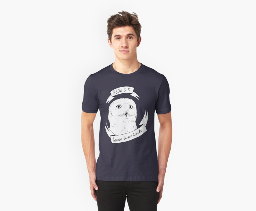 Hedwig, Forever on your Tshirt by Dianne Tanner