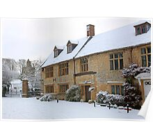 English Period homes covered with snow Poster