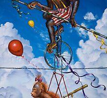 'Monkey on a Wire' by Shane  Gehlert