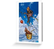 'Monkey on a Wire' Greeting Card