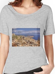View from the Kastro Women's Relaxed Fit T-Shirt