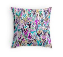 Abstract Colorful Feathers Throw Pillow