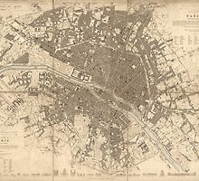 Vintage Map of Paris from 1834 by VintageParis