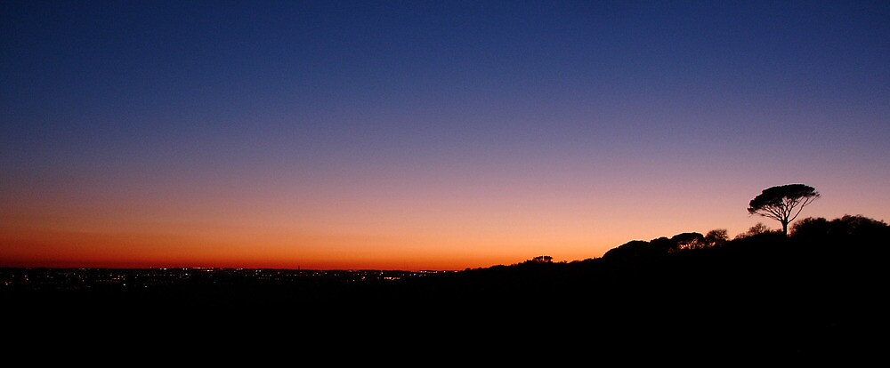 Dusk, Madrid's northern reaches by mishainmadrid