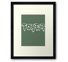 """Toker"" Marijuana Framed Print"