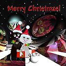 Merry Christmas with cats by walstraasart