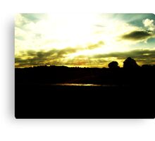 Light shining through the clouds  Canvas Print
