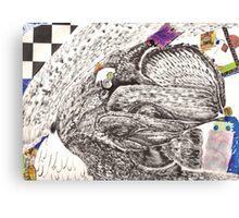 bunny hair Canvas Print