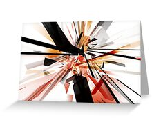 Tangled Rectangles Greeting Card